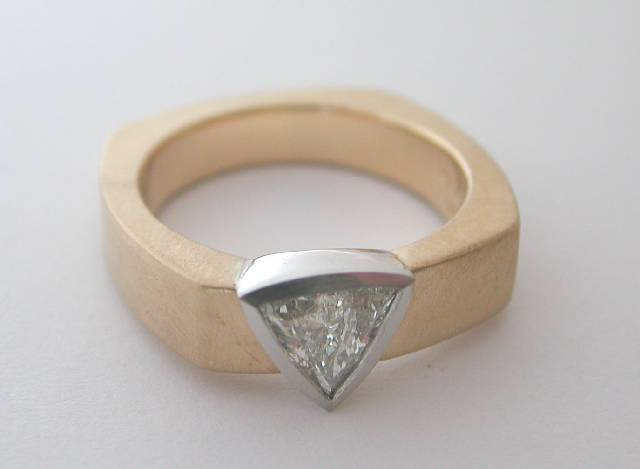 trilliant cut diamond ring