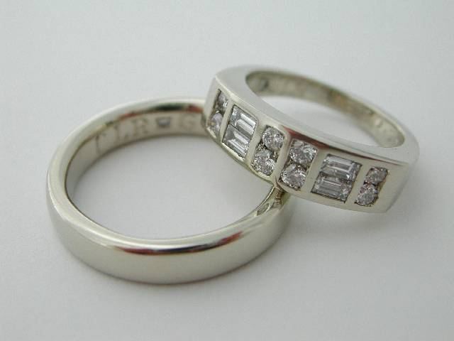 white gold ring set
